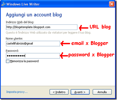 blogger in windows live writer