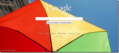 come caricare sfondo home page Google