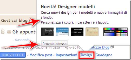 bacheca blogger design designer template