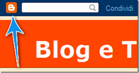 come accedere bacheca blogger navbar