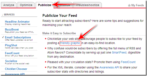 come inserire logo feed feedburneraggregatori blogger