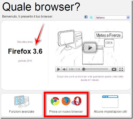 quale versione browser web sto utilizzando internet