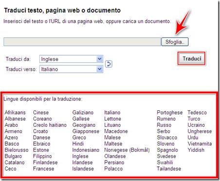 come fare traduzione automatica inglese italiano file testo computer