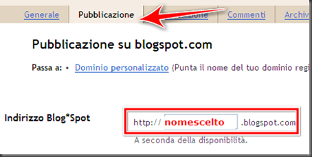 come modificare cambiare indirizzo URL blog blogger