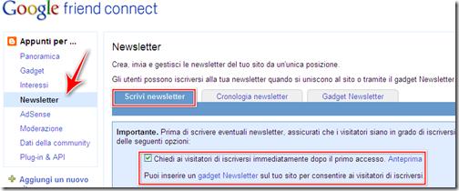 come inviare newsletters lettori fissi blog blogger