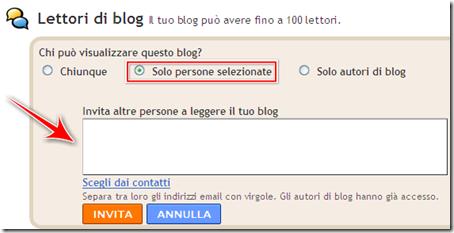 come creare impostare blog privato gratis blogger