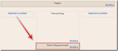 come inserire elenco blog seguo pagina blog blogger