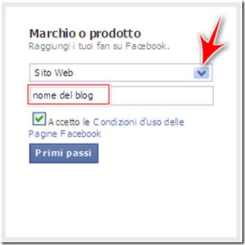 come realizzare avere pagina fan ufficiale facebook blog blogger wordpress