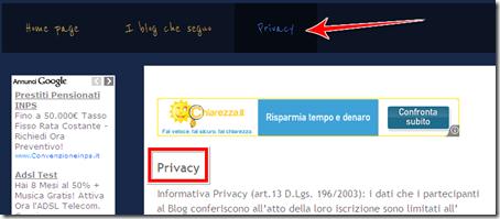 come non mostrare eliminare titolo pagina statica blog blogger