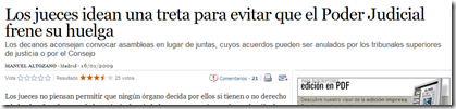 Titular de la noticia en «EL PAÍS»