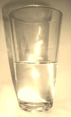 Tapered down glass half full-Sheva Apelbaum
