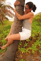 Jill Fine climbing a Coconut tree - Sheva Apelbaum