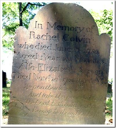 Tomb Stone Rachel Colvin1784-Sheva Apelbaum