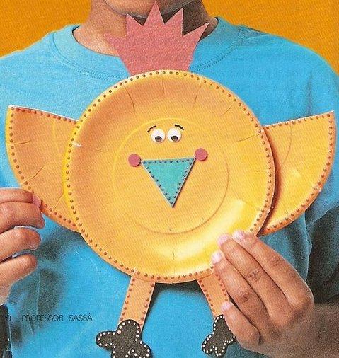 تزيين صحون الورق اعمال فنية للاطفال اشغال يدوية للعطلة