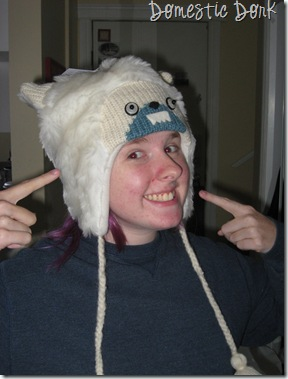 yeti hat dorky abominable snowman sasquatch