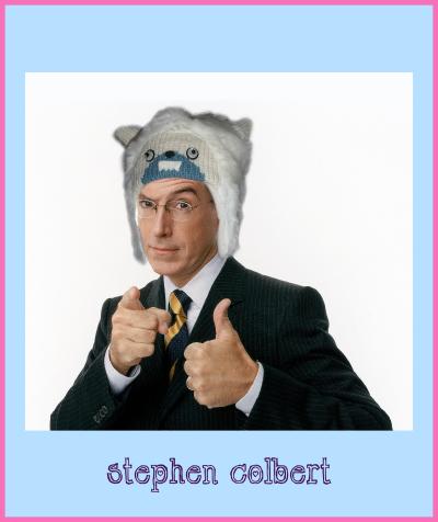 stephen colbert yeti hat