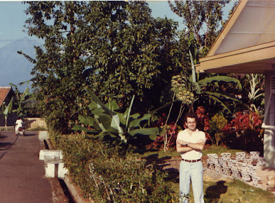 Brian outside the house in the 1980s!