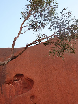 One of our first glimpses of Uluru
