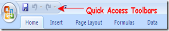 Quick Access Toolbars