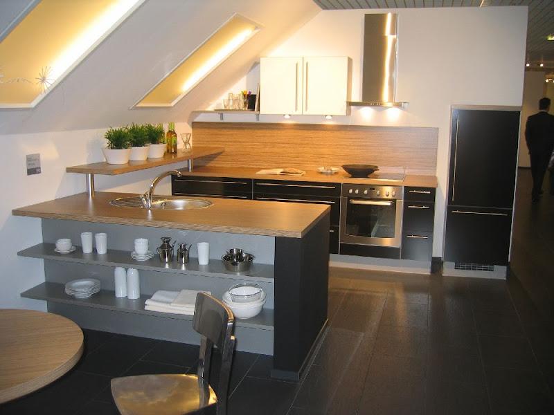 komfort k che f dachwohnung mit insel hochglanz alno einbauk che ebay. Black Bedroom Furniture Sets. Home Design Ideas