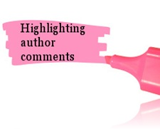 highlighting author comments
