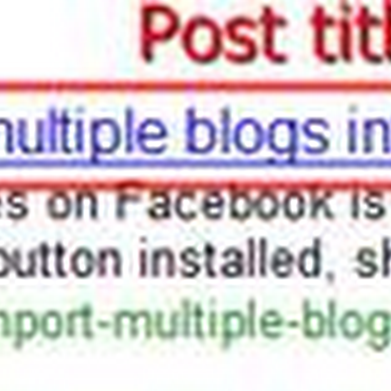SEO (Search engine optimization) friendly Blogger page title