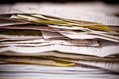 Paperwork by kozumel, on Flickr [used under Creative Commons license]