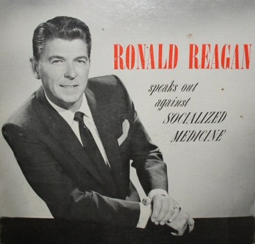 Album cover - 'Ronald Reagan speaks out against socialized medicine'