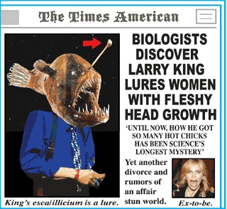 Biologists discover Larry King lures women with fleshy head growth