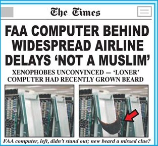 FAA Computer Behind Widespread Airline Delays 'Not a Muslim'