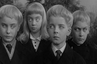Whitehaired British kids from Village of the Damned