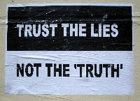 Poster: trust the lies, not the truth