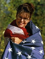 Palin wrapped in flag