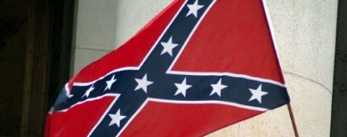 Confederate flag at tea party rally
