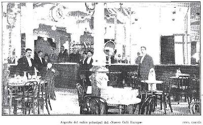 Los caf s madrile os inauguraci n del nuevo caf europa - Calle nebulosas madrid ...