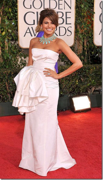 Actress Eva Mendes arrives at the 66th Annual Golden Globe Awar