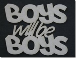 Boy will be boys 0