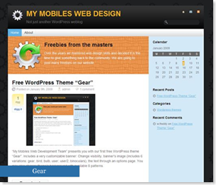 Gear Wordpress Theme, magazine templates style