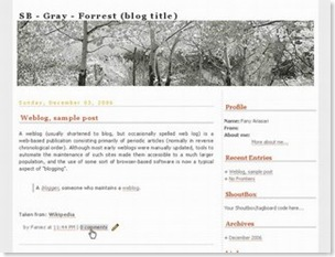 Gray Forest Blogspot Template, white template