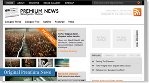 The Original Premium News Wordpress Theme, free wordpress theme