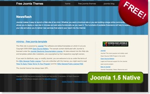 minima joomla template, free joomla template