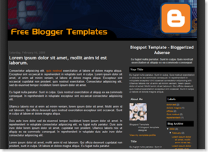 Bloggerized Adsense Blogspot Template, adsense ready blogger template
