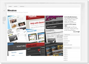 Mosaicus Blogspot Template, clean templates