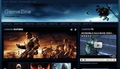 gamezine-blogspot-template, magazine style blogger theme, gamers blogger template