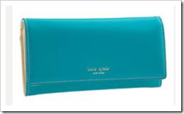 Kate Spade Slim Envelope Wallet in Turquoise - www.nordstrom.com