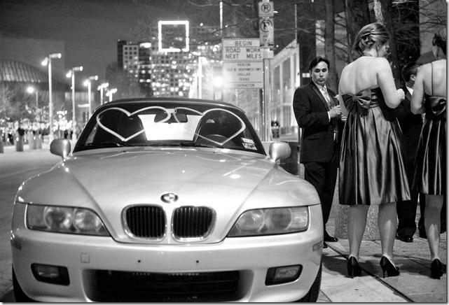 Fun Getaway Car for Wedding Send-Off