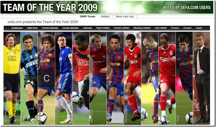 2009 yılın takımı