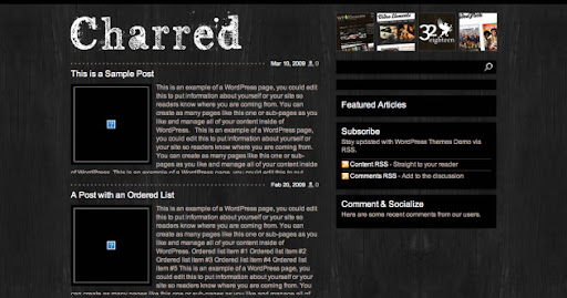 charred-wordpress
