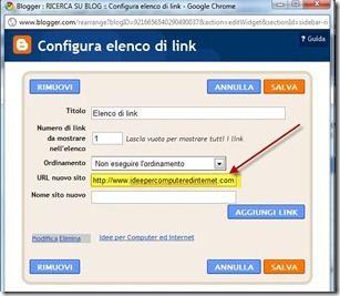 elenco di link blogger
