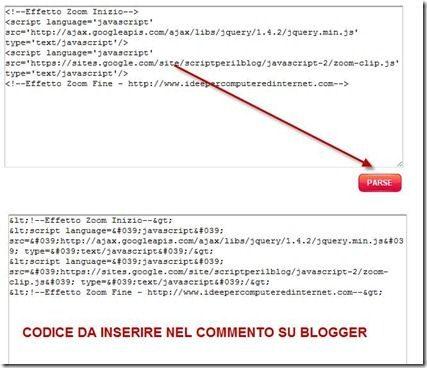 codice html convertito in XML